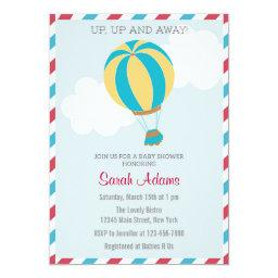 Hot Air Balloon Baby Shower  Blue Red