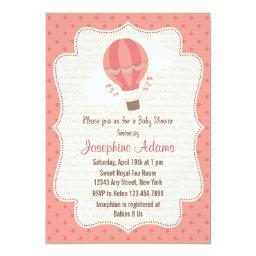 Hot Air Balloon Baby Shower  Pink