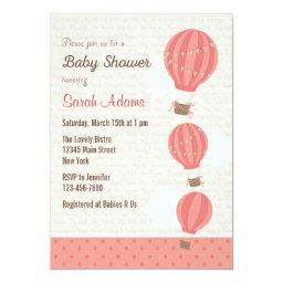 Hot Air Balloon Baby Shower  (Pink)