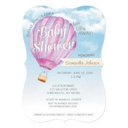 Hot Air Balloon Baby Shower - Pink & Purple Girl