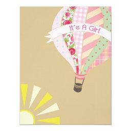 Hot Air Balloon Girly Baby Shower