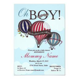 Hot Air Balloon Lil Man Shower