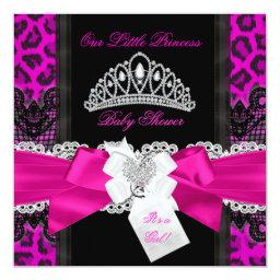 Hot Pink Princess  Girl Black Leopard 2