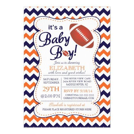 It's a Baby Boy Football  Invitatation