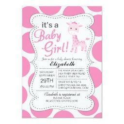 It's a Baby Girl Pink Giraffe Girls Baby Shower