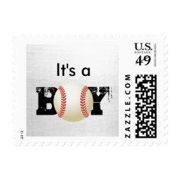 It's a Boy Baseball Sports  Stamps