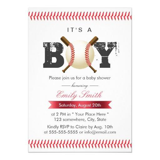 It's a Boy Baseball Stitching Sports
