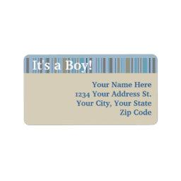 It's a Boy, Birth Announcement or  Label