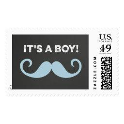 It's A Boy Mustache  Postage Stamps