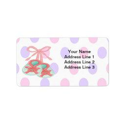 It's a Girl - Booties  Address Labels