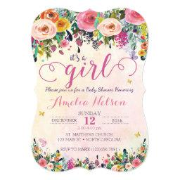 It's A Girl Floral Garden Baby Shower