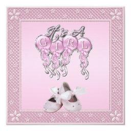 It's a Girl Pink Shoes & Balloons
