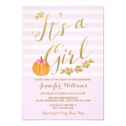 It's a Girl Pumpkin Fall