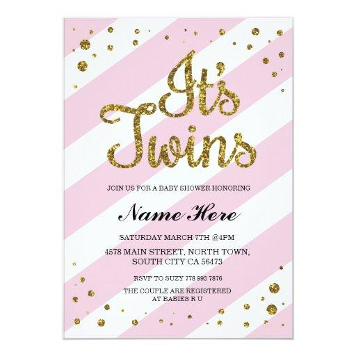 Twin Baby Shower Invitations | BabyShowerInvitations4U