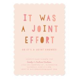 Joint Effort Couple's Baby Shower  Blush