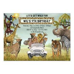 Jungle Animals Safari Birthday Party