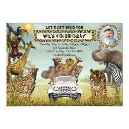 Jungle Animals Safari Birthday Photo