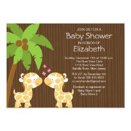 Jungle Giraffe Neutral Twin Baby Shower