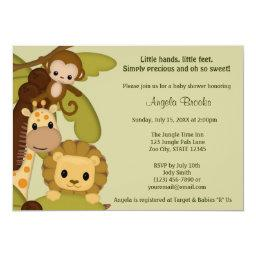 Jungle Time Animals Baby Shower  JTN-L
