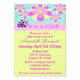 Ladybugs and Flowers Baby Shower