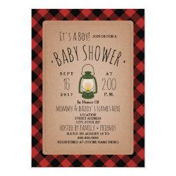 Lantern Lumberjack Plaid Baby Shower