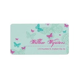 LARGE LABEL SEALS :: butterflies 5