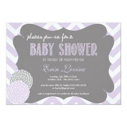 Lavender Chic Chevron Baby Shower