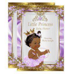 Lavender Gold White Princess Baby Shower Ethnic