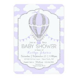 Lavender Hot Air Balloon Girl Baby Shower