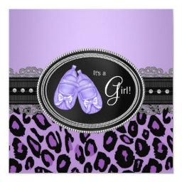 Lavender Purple Leopard Baby Girl Shower
