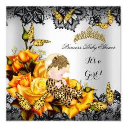 Leopard  Girl Butterfly Yellow Gray