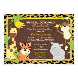 Leopard Jungle Friends Baby Shower