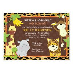 Leopard Jungle Friends Orange  Invitati