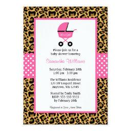 Leopard Pink Carriage Dots