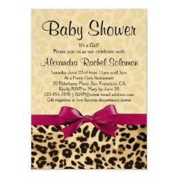 Leopard Print Hot Pink Girl Baby Shower