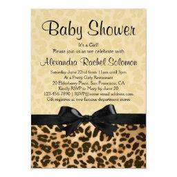 Leopard Print with Bow Girl Baby Shower