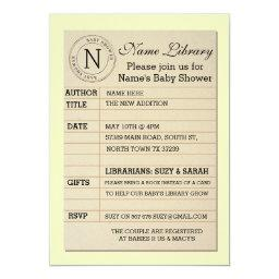 Library   Yellow Invite Invitation
