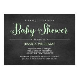 Light Green Chalkboard Baby Shower