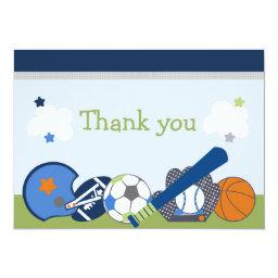 Lil/Little Sports Player Shower Thank You