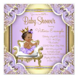 Lilac Gold Ethnic Princess Baby Shower