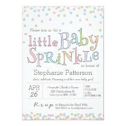 Little Baby Sprinkle Confetti Shower Invitations
