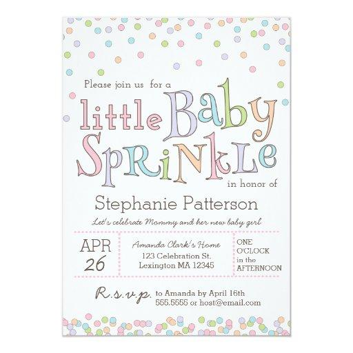 baby shower little baby sprinkle confetti shower invitation