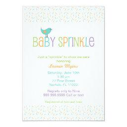 Little Bird Sprinkle  Invite Neutral