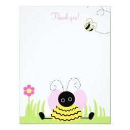 Little Bumble Bee 4x5 Flat Thank you note