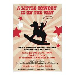 Little Cowboy  Invite, Rocking Horse