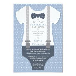 Little Gentleman  Invite, Blue, Gray