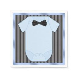 Little Man Baby Boy Shower Paper Napkin