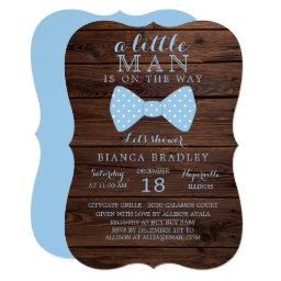 Little Man Baby Shower  | Wood Bow Tie
