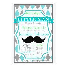 Little Man Mustache Baby Shower