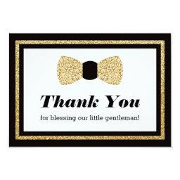 Little Man Thank You , Black Faux Glitter